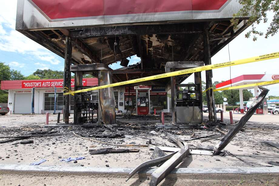 The Conoco gas station at Wycliffe and Memorial Drive is closed Monday after a man went on a shooting rampage Sunday, May 29, 2016.