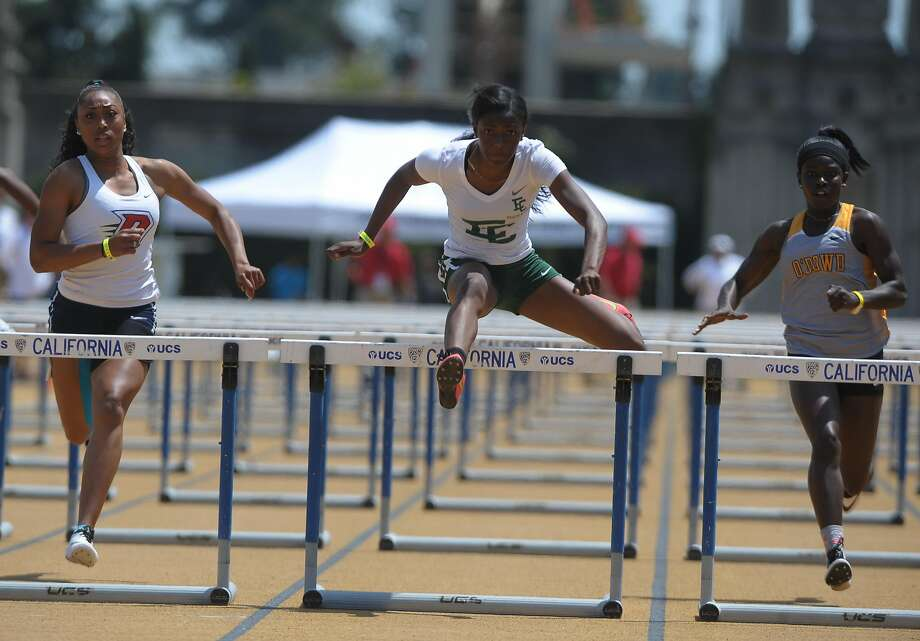 El Cerrito junior Kaylah Robinson ranks first in the 100 hurdles at 13.45 seconds heading into the CIF State Meet. Photo: ERIC TAYLOR, Eric Taylor/1ststring.com