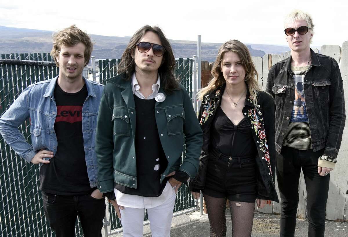 GEORGE, WA - MAY 27: (L - R) Joff Oddie, Joel Amey Ellie Rowsell, and Theo Ellis of Wolf Alice pose at the Sasquatch! Music Festival at the Gorge Amphitheatre on May 27, 2016 in George, Washington. (Photo by Tim Mosenfelder/Getty Images)