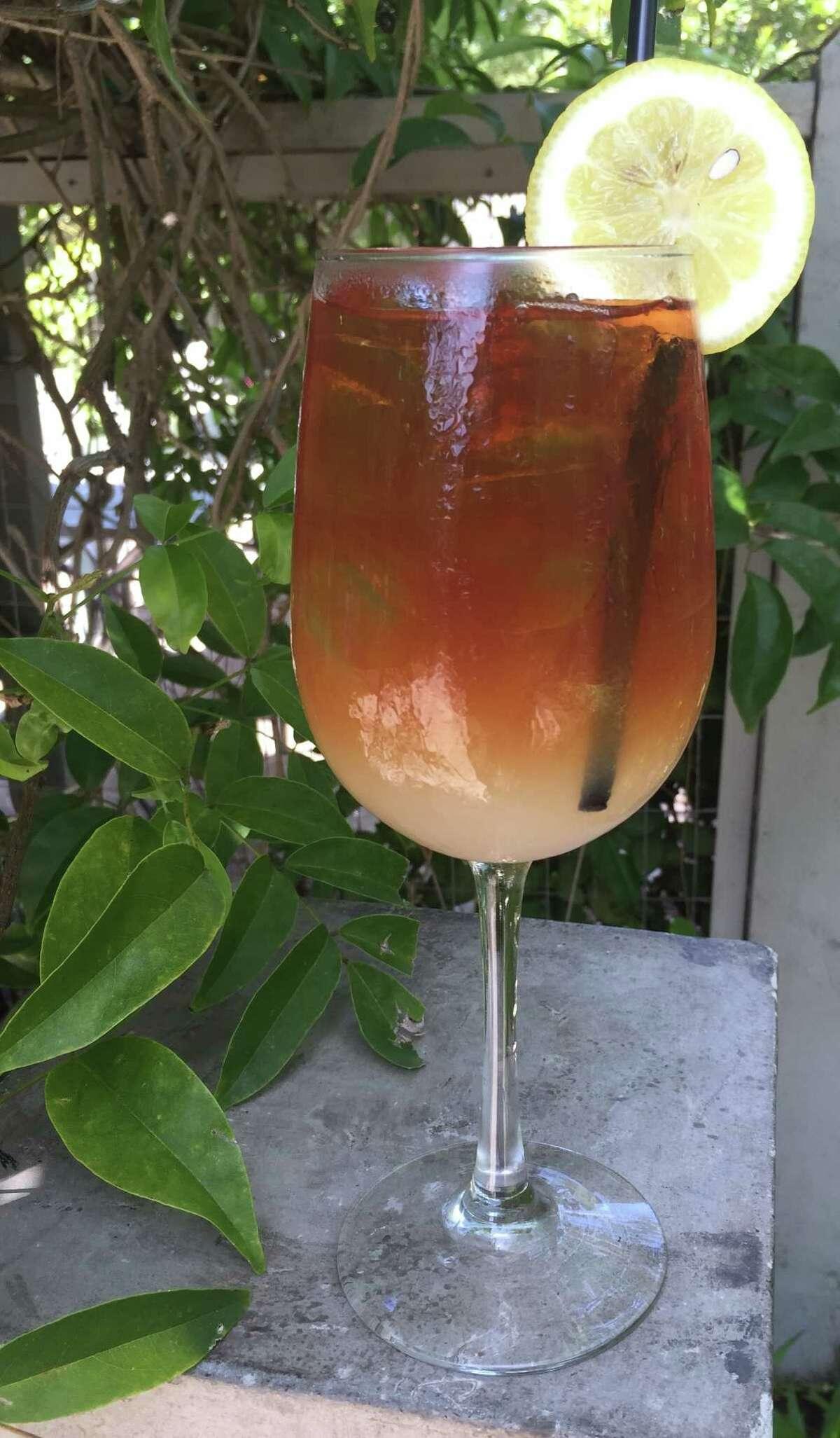 An Arnold Palmer (iced tea, lemonade and vodka)