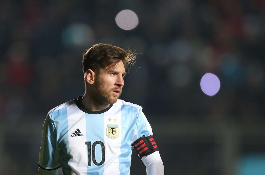 Lionel Messi during Friday's match with Honduras. Photo: Nicolas Aguilera, Associated Press