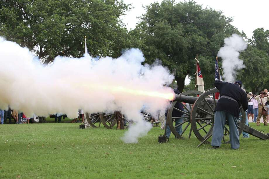 The official stuff of TexasThe cannon, like this one being fired at a Memorial Day service, would become the official state gun under a resolution filed Wednesday by state Sen. Don Huffines, R-Dallas.From hats to pies, keep going for a look at the rest of Texas official state symbols. Photo: Steve Gonzales, Houston Chronicle / © 2016 Houston Chronicle