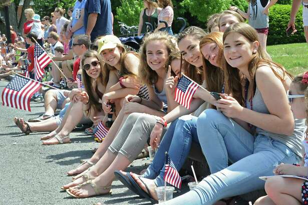 Spectators watch the Bethlehem Memorial Day parade on Delaware Ave. on Monday, May 30, 2016 in Bethlehem, N.Y. (Lori Van Buren / Times Union)