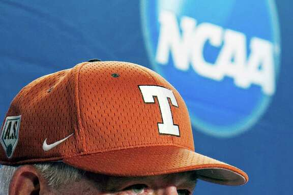 FILE- In this June 17, 2011, file photo, Texas coach Augie Garrido takes a question during an NCAA college baseball news conference at TD Ameritrade Park in Omaha, Neb.Garrido, the winningest coach in college baseball history, is out after 20 seasons at Texas. The decision Monday, May 30, 2016, comes after the Longhorns' first losing season since 1998. (AP Photo/Nati Harnik, File)