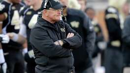 Jim Grobe was 77-82 in 13 seasons at Wake Forest and coached the Deacons to an ACC title in 2006.