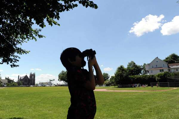 Greenwich summer school is on target to enroll a record number of students this year. Above, a summer school student participates in a 2015 bird-watching activity.