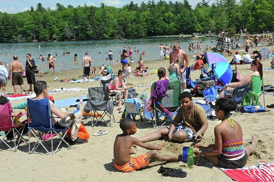 A hot Memorial Day brought a big crowd to the beach at Grafton Lakes State Park on Monday, May 30, 2016 in Grafton, N.Y.  (Lori Van Buren / Times Union) Photo: Lori Van Buren / 20036789A