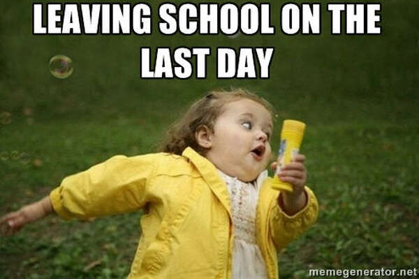 The end of the school year is near and these memes sum up perfectly how you feel about it. Like this one from  MemeGenerator