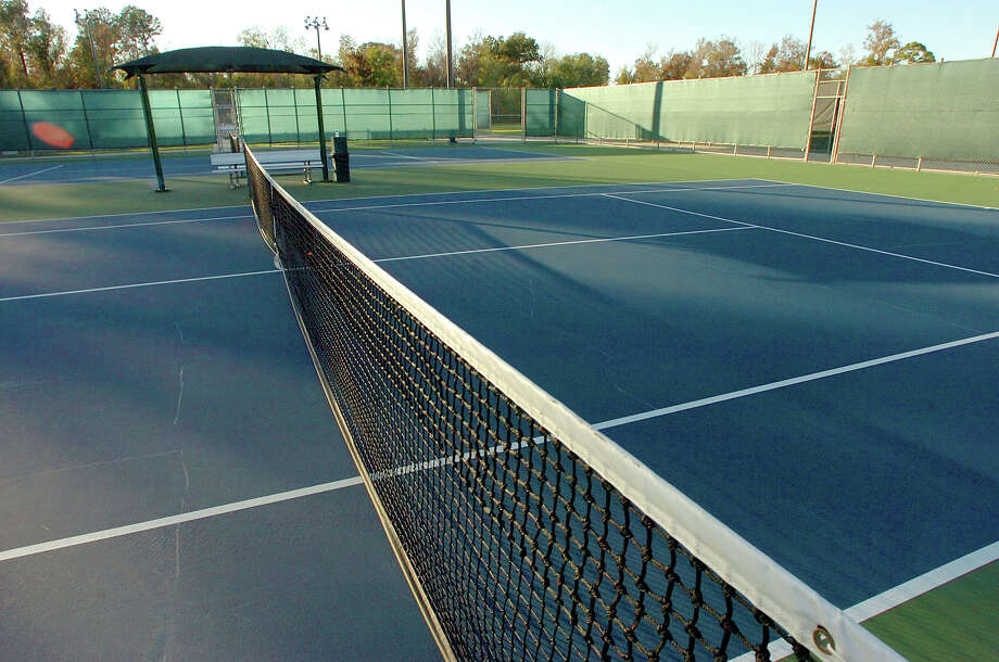 Tennis courts at the Beaumont Municipal Athletic Complex. 