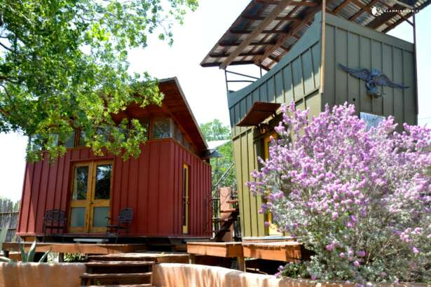 Eco-cabins in Texas Hill Country offer yoga retreats near AustinSpicewood, Texas