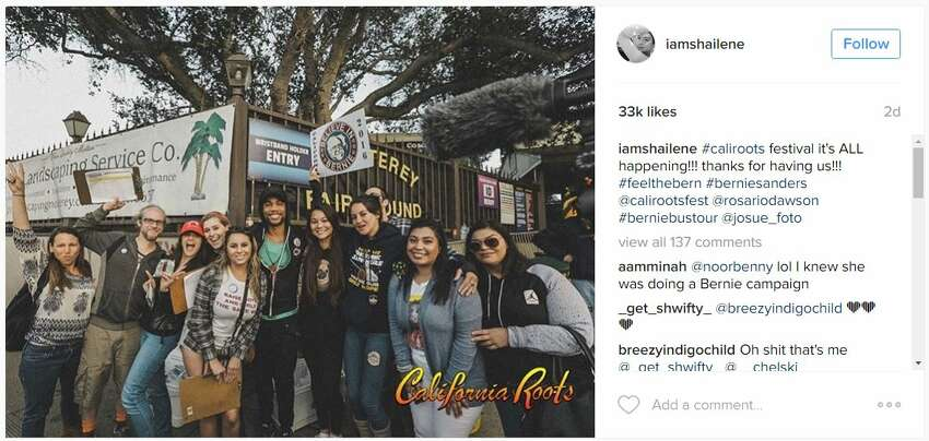 Actress Shailene Woodley went to the California Roots Music and Art Festival for her Memorial Day Weekend.