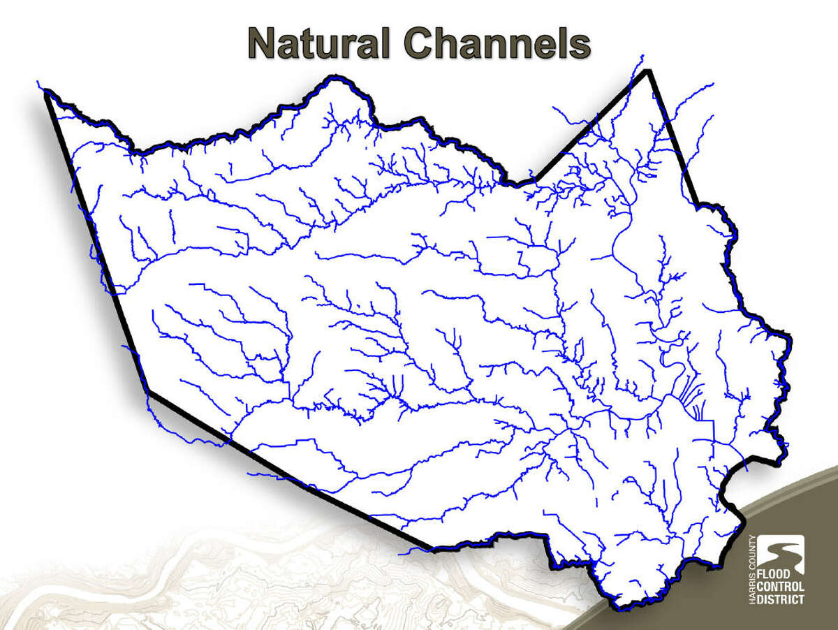 Harris County sports a natural network of waterways, which were expanded to drain the land for urban use.