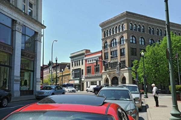 Corner of Fulton and River Streets in Troy. (Lori Van Buren / Times Union)