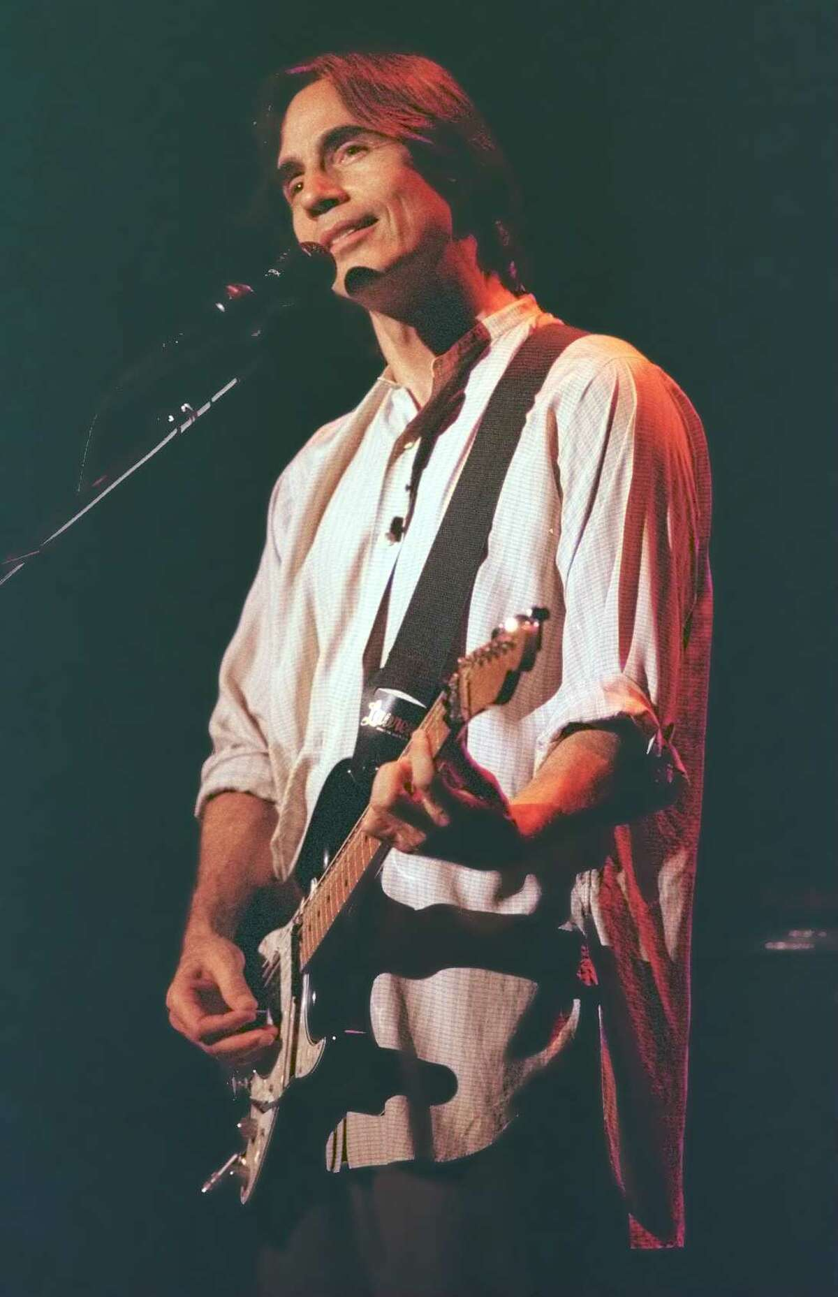 Jackson Browne performs at SPAC, August 4, 1996.