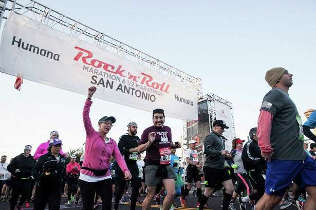 Thousands of runners participated in this year's Rock 'n' Roll San Antonio Marathon on Dec. 6, 2015 at the Alamodome.