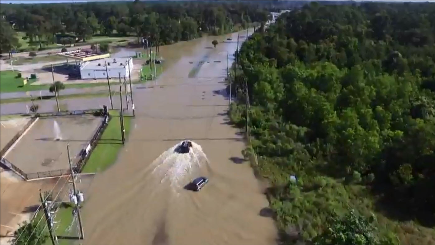 Aerial Drone Footage Shows Dramatic Impact Of Flood On Nw