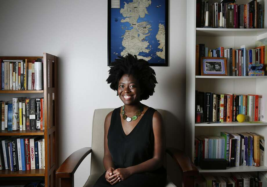 Not quite Ghanaian, not quite American, Yaa Gyasi didn't fit in growing up. But she bloomed when she started writing fiction. Photo: Leah Millis, The Chronicle
