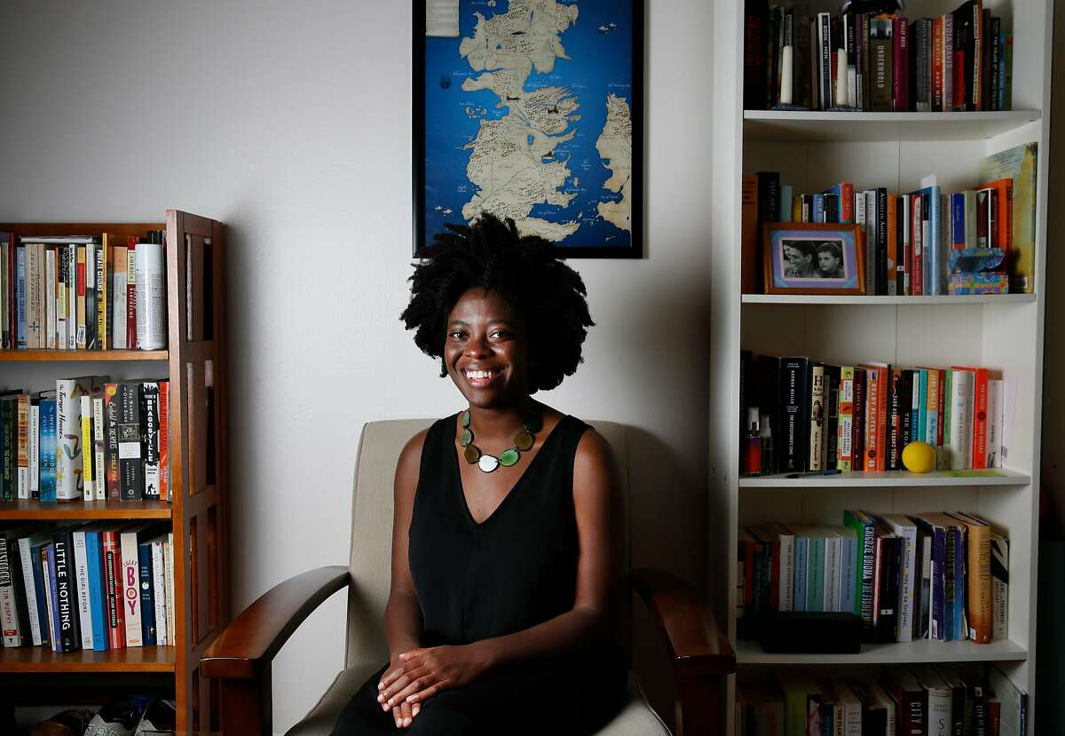 Yaa Gyasi poses for a portrait in her home May 31, 2016 in Berkeley, Calif.