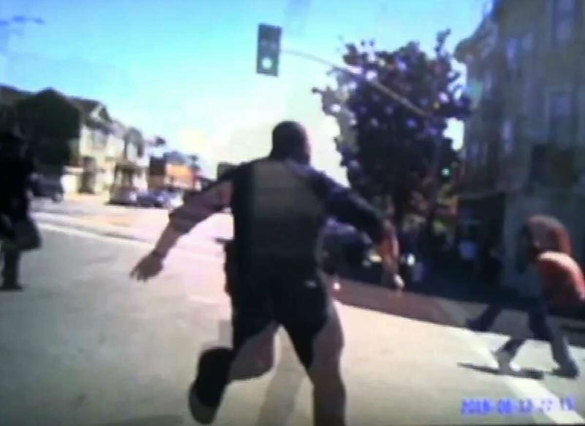 Body camera footage provided by Oakland Police show the pursuit of Nate Wilks who was later shot by an Oakland police officer on August 12, 2015.