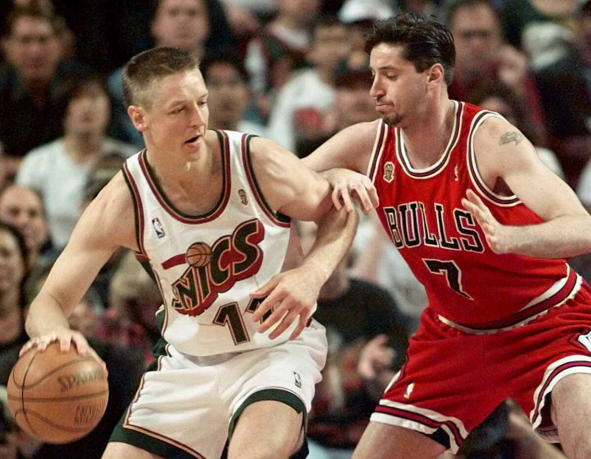 Detlef Schrempf - Seattle SuperSonics/Washington Huskies First tenure: 1993-1999 Second: 2005-2007 (as a coach) Bonus: Schrempf's playing career with the Sonics was a return in it of itself as he went to high school in Centralia, Washington, and went to college at the University of Washington before being drafted by the Dallas Mavericks in 1985.