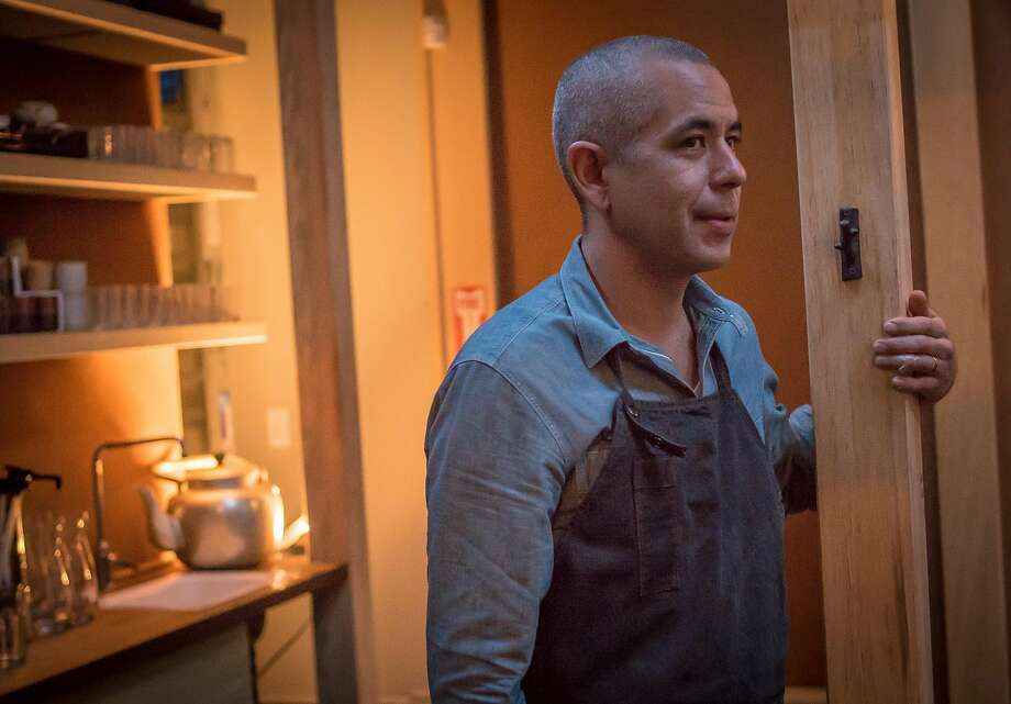 Sylvan Mishima Brackett is the chef-owner of Rintaro in S.F., an izakaya that has found its center. Photo: John Storey, Special To The Chronicle