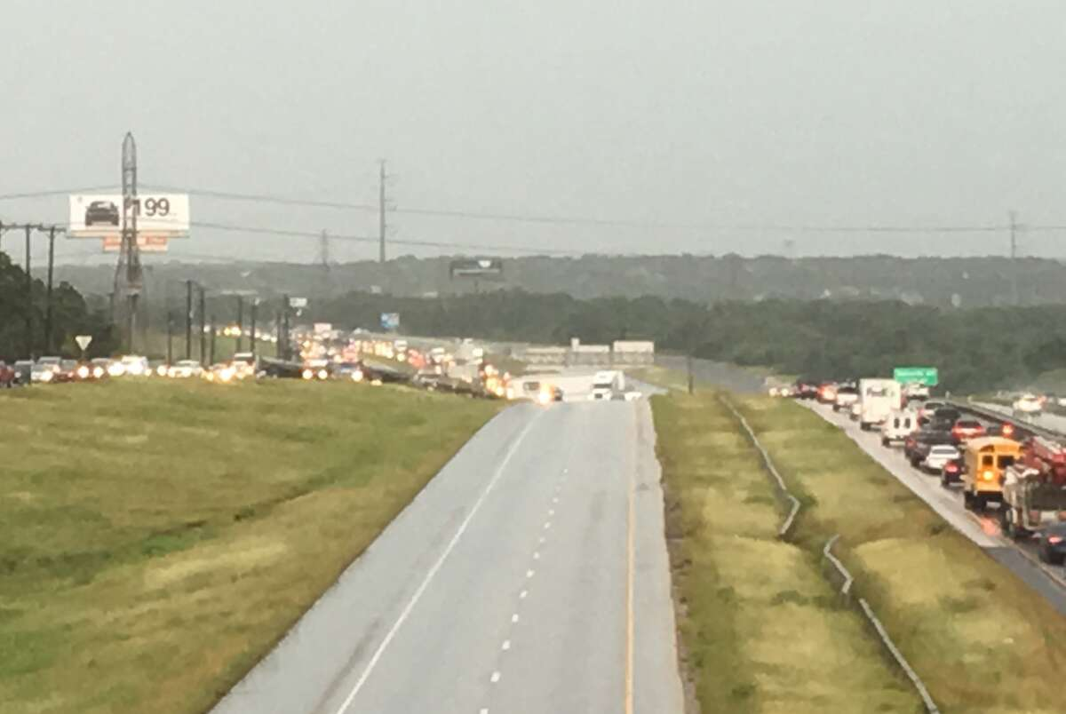 An 18-wheeler crash near Loop 1604 and Redland Road snarled traffic on the North Side Tuesday afternoon. Westbound lanes on Loop 1604 have been closed.