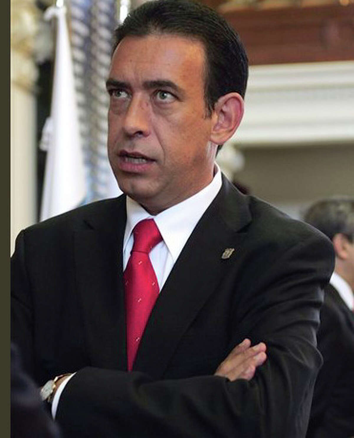 Former Coahuila governor Humberto Moreira, pictured here in 2006 at the Texas Capitol in Austin, is the subject of an investigation by the U.S. government. He hasn't been charged with a crime, but in September 2016 his mother-in-law agreed to give up her San Antonio house as part of the probe. Moreira was head of Mexico's Institutional Revolutionary Party but resigned in 2011 over a financial scandal that threatened the party's efforts to rebrand itself as corruption-free and retake the presidency in 2012.