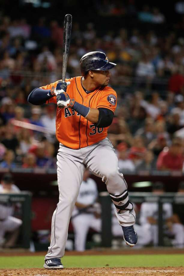 PHOENIX, AZ - MAY 31:  Carlos Gomez #30 of the Houston Astros bats against the Arizona Diamondbacks during the second inning of the MLB game at Chase Field on May 31, 2016 in Phoenix, Arizona. Photo: Christian Petersen, Getty Images / 2016 Getty Images