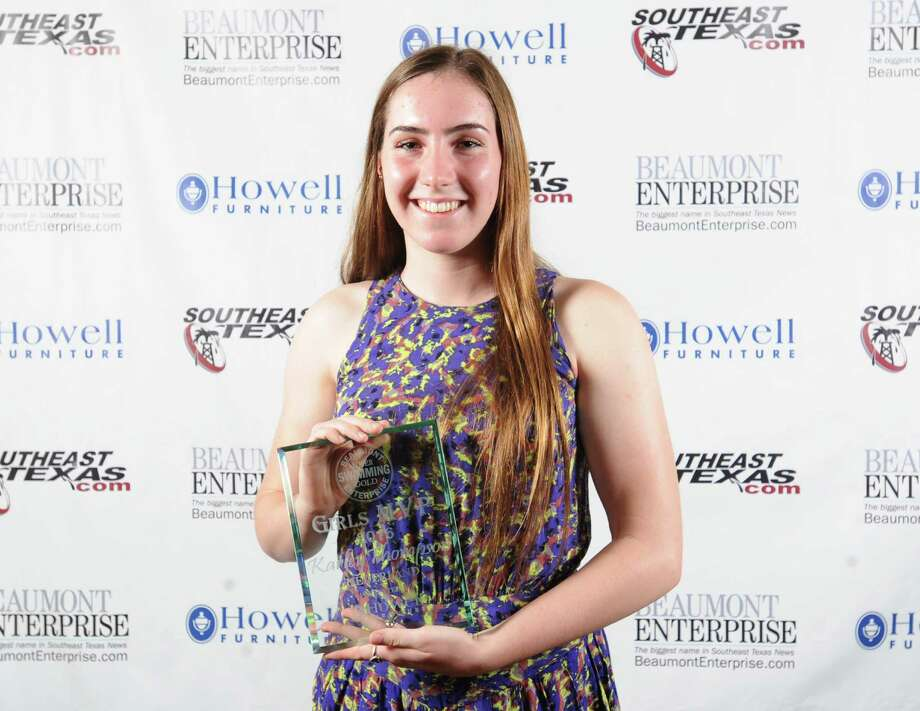 Nederland's Karley Thompson, 2016 Beaumont Enterprise Super Gold Girls Swimming MVP, presented by Howell Furniture. | Guiseppe Barranco/The Enterprise Photo: Guiseppe Barranco, Photo Editor