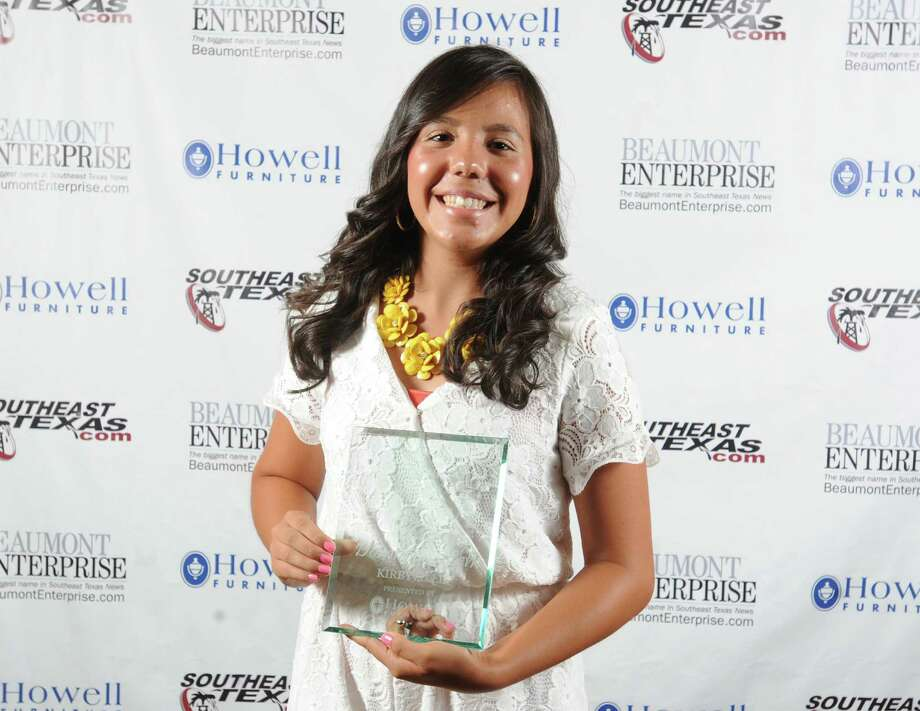 Kirbyville's Dominique Leh, 2016 Beaumont Enterprise Super Gold Girls Tennis MVP, presented by Howell Furniture. | Guiseppe Barranco/The Enterprise Photo: Guiseppe Barranco, Photo Editor