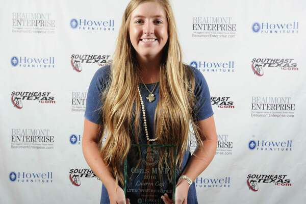 Little Cypress-Mauriceville's Lauren Cox at the Beaumont Enterprise Super Gold 2016 Spring Sports Banquet presented by Howell Furniture. The annual event honors area athletes.  Photo taken Wednesday, May 25, 2016 Guiseppe Barranco/The Enterprise