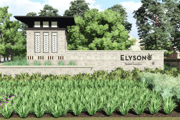 A rendering of the main entry to Elyson, a3,642-acre community being developed west of the Grand Parkway at FM 529. Newland Communities plans more than 6,000 homes in the community.
