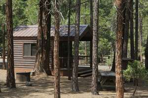 Camping cabins are available for Labor Day Weekend -- not all booked -- at McCarthur-Burney Falls State Park, which has �24 pretty camping cabins, plus 128 tent and RV campsites, set in cedar and pine forest. Lake Britton is within a mile.