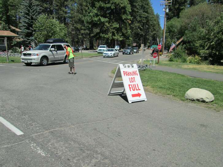 Every parking place was taken Saturday at Camp Richardson (shown here), Bay View Campground, scenic turnouts, DL Bliss State Park and Desolation trailheads.