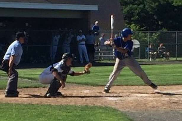 Mike Ghiorzi swings at a pitch during his at-bat (Art Cockerham photo)