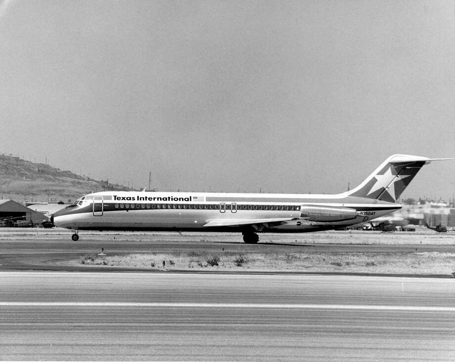 1974 - Texas International Airlines DC-9 on the runway / handout
