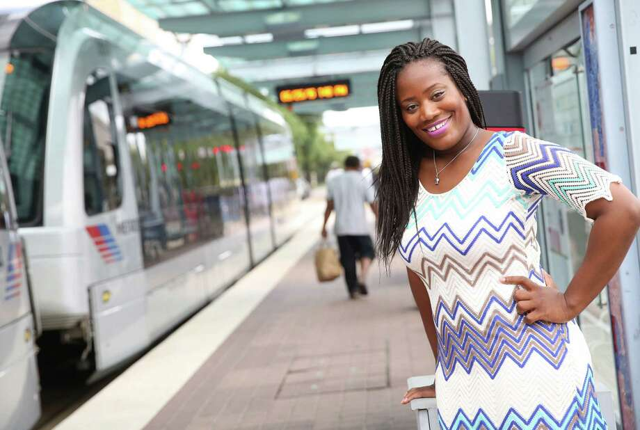 """Deidre Mathis is planning a hostel near the McGowen Metro stop. """"They're going to feel like they're in Houston,"""" she says. Photo: Elizabeth Conley, Staff / © 2016 Houston Chronicle"""