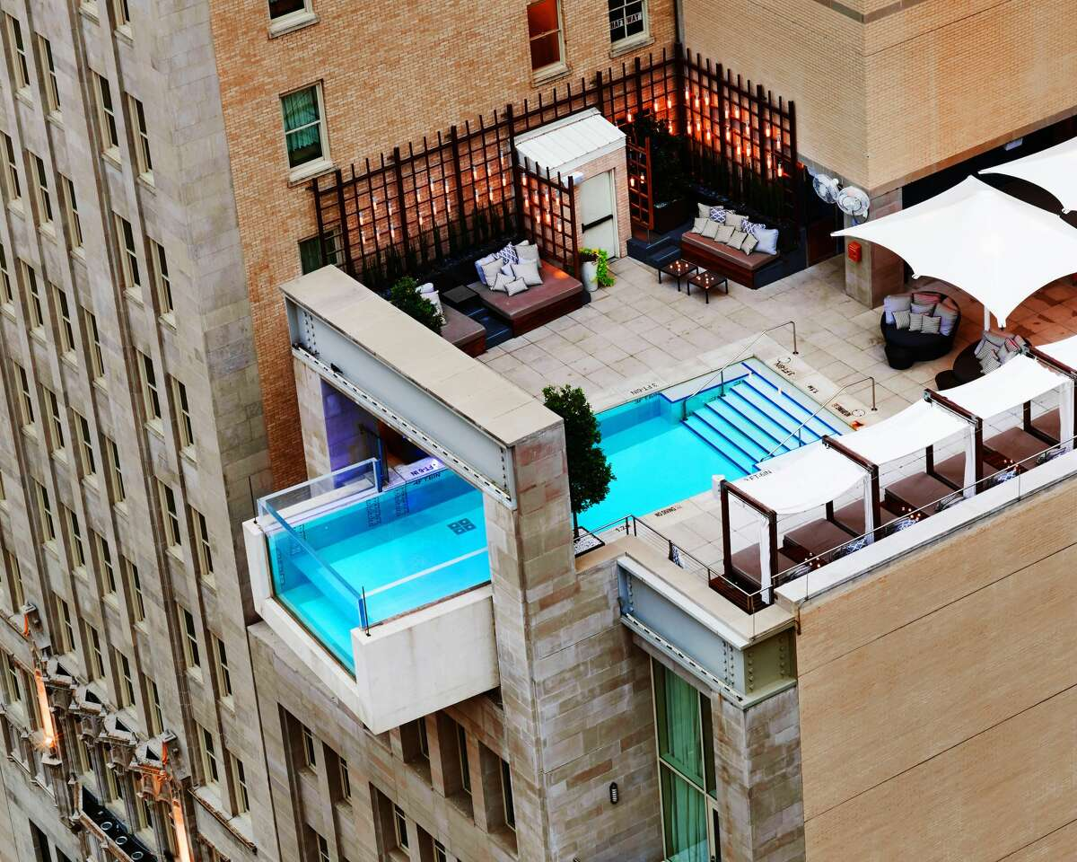 The Joule, DallasFeatures: The cantilevered pool juts out over Main Street, giving hotel guests the impression they are swimming into the Dallas skyline.