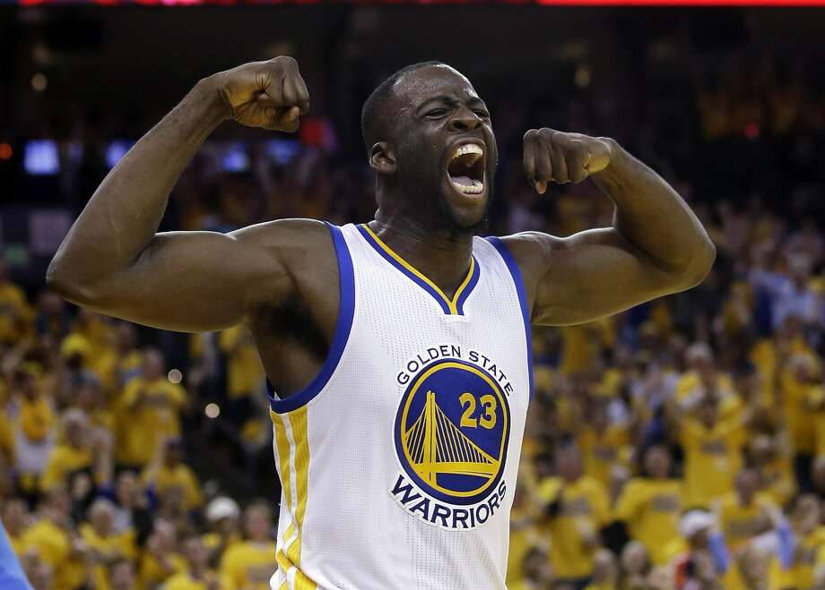 Golden State Warriors' Draymond Green (23) celebrates after scoring against the Oklahoma City Thunder during the second half in Game 5 of the NBA basketball Western Conference finals Thursday, May 26, 2016, in Oakland, Calif. Golden State won 120-111.  Photo: Marcio Jose Sanchez, Associated Press