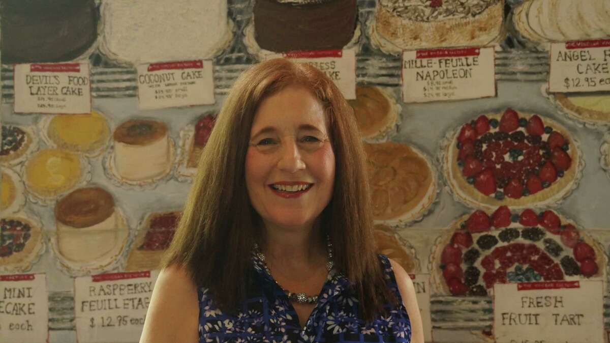 Bellaire artist Diane Gelman said she will bake cookies for a June 4 reception for her exhibit of 60 works, some of them depicting food.