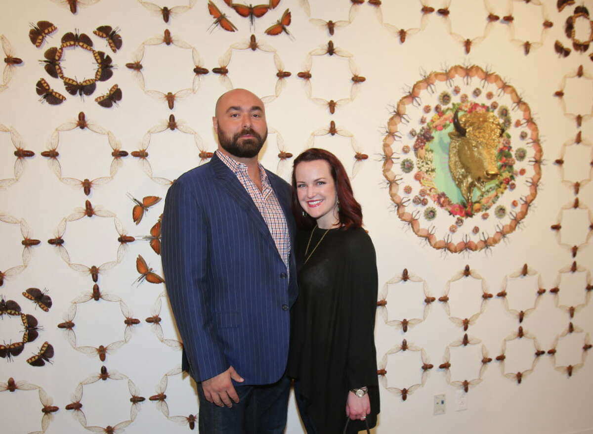 Simon and Katie Tipper-McWhorter at the annual Art of Leadership round table Thursday, May 26, 2016, in Houston.