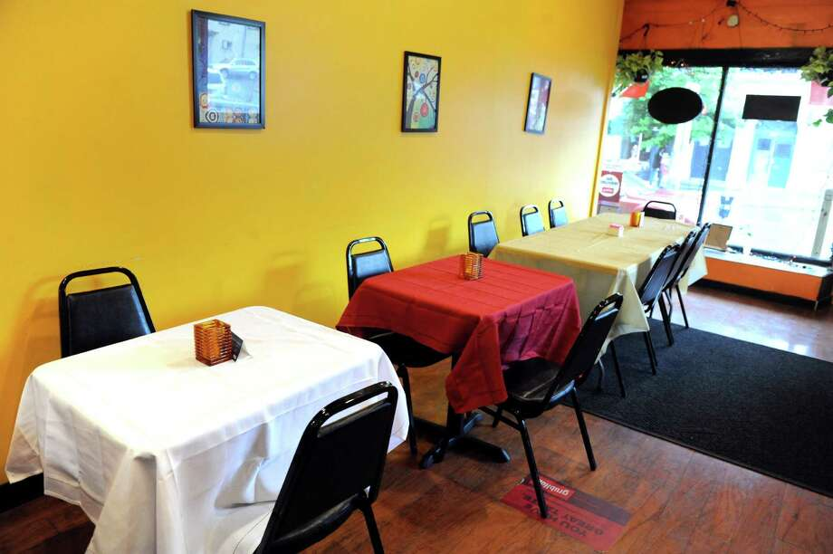 The dining room on Tuesday, May 24, 2016, at Trinbago Caribbean Restaurant in Albany, N.Y. (Cindy Schultz / Times Union) Photo: Cindy Schultz / Albany Times Union