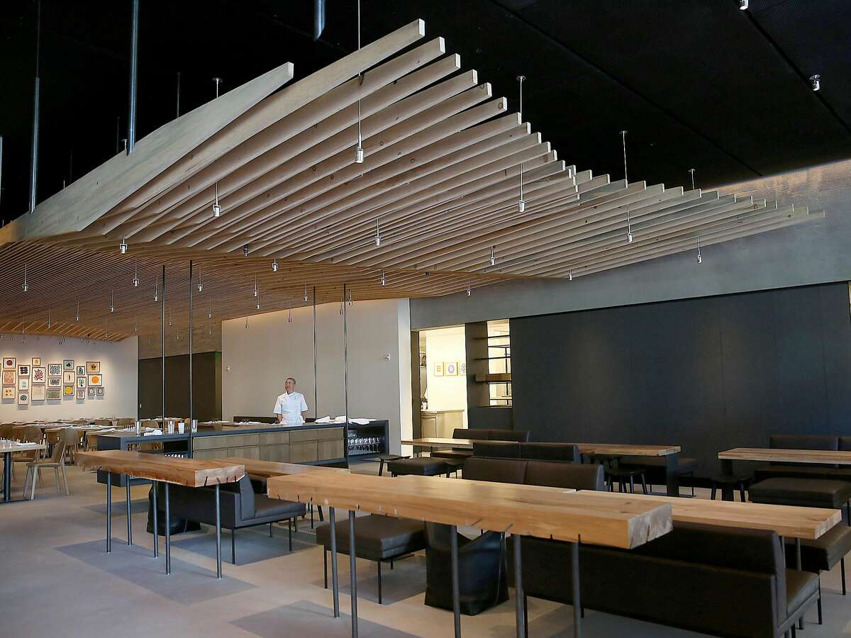 Corey Lee at In Situ, the new SFMOMA restaurant, designed by Aidlin-Darling.