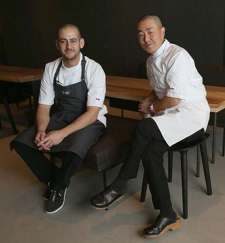 Executive chef Brandon Rodgers (left) with owner/chef Corey Lee (right) at In Situ. Photo: Liz Hafalia, The Chronicle