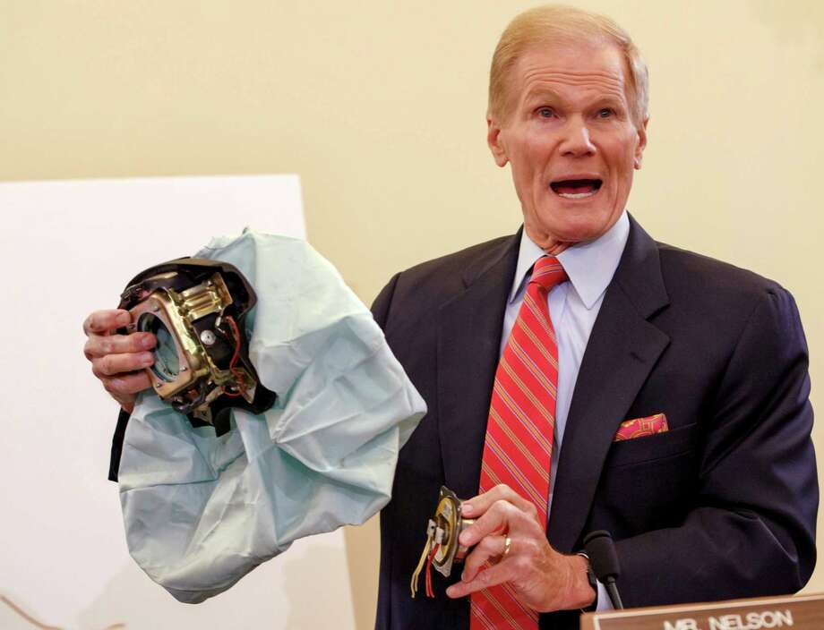 Senate Commerce Committee member Sen. Bill Nelson, D-Fla., says automakers should replace potentially deadly Takata air bag inflators before the cars are sold so they don't eventually have to be recalled. The cars currently aren't under recall and can be sold legally. Photo: Associated Press File Photo / Copyright 2016 The Associated Press. All rights reserved. This material may not be published, broadcast, rewritten or redistribu