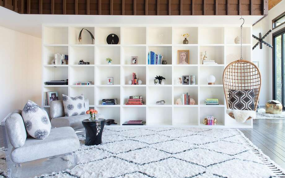 One of the shelving units designed by Elena Calabrese for her family's home in Mill Valley. Photo: Suzanna Scott Photography
