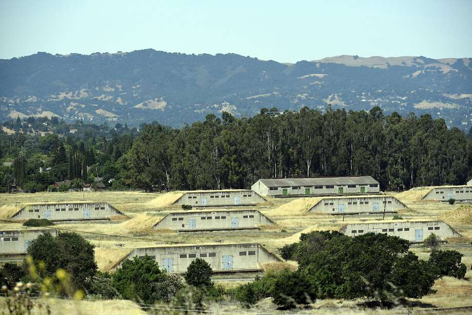 Former munition bunkers are seen on the land housing the GoMentum Station, Honda's 5,000-acre self-driving car proving grounds at the old Concord Naval Weapons Station, in Concord, CA Wednesday, June 1st, 2016. Photo: Michael Short / Special To The Chronicle