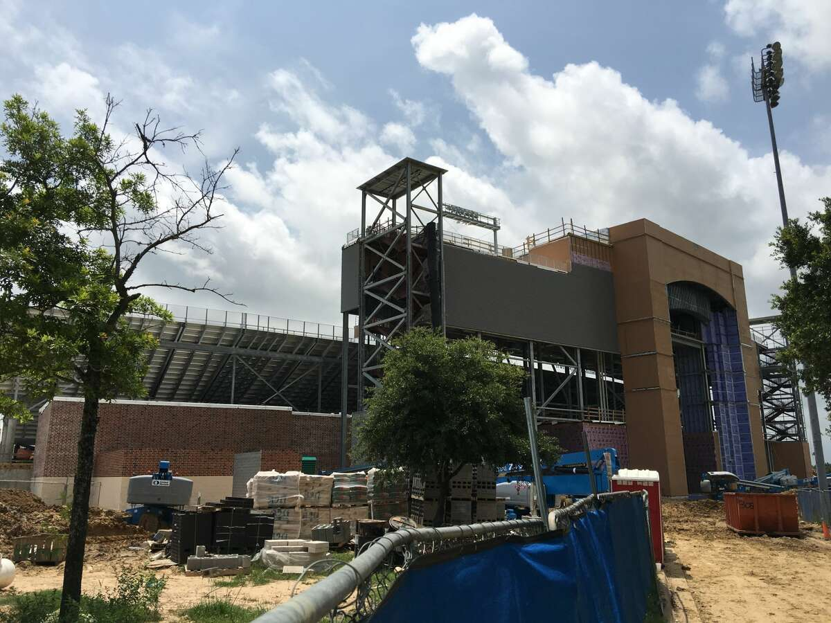 Prairie View A&M's new $61 million football stadium is scheduled to be open in time for the Panthers' season opener against Texas Southern in early September. (Brent Zwerneman / Houston Chronicle)