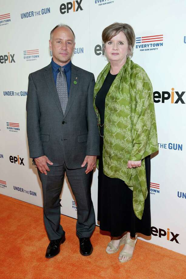 NEW YORK, NY - MAY 12:  Mark Barden (L) and Jackie Barden, parents of Sandy Hook victim Daniel Barden, attend Under the Gun NY Premiere Event With Katie Couric & Stephanie Soechtig on May 12, 2016 in New York City.  (Photo by Monica Schipper/Getty Images for EPIX) Photo: Monica Schipper / Getty Images For EPIX / 2016 Getty Images