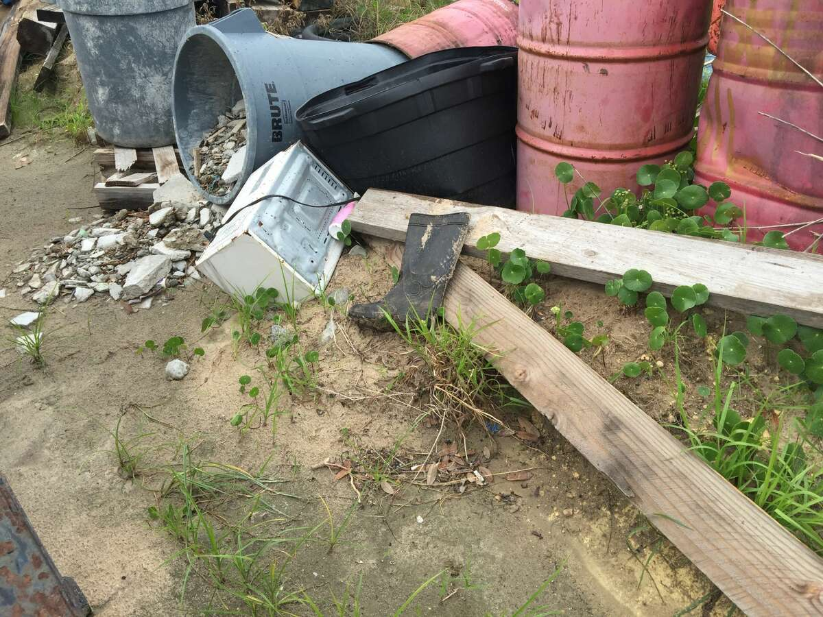 Photos submitted May 31, 2016, by a Corpus Christi resident shows construction debris on the west side of Schlitterbahn's water park there.